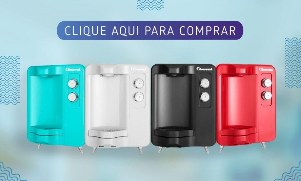 Quatro bebedouros e purificadores de água residenciais