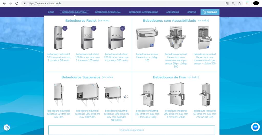 Site Canovas Porifólio. Saiba todos os produtos da Cânovas com facilitadade e agilidade.
