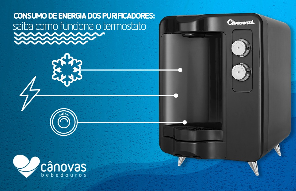 Consumo de energia dos purificadores: saiba como funciona o termostato